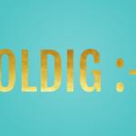 Goldene Schrift in Crello erstellen